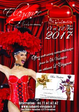 st valentin 2017 soirée cabaret loire rhone Alpes auvergne