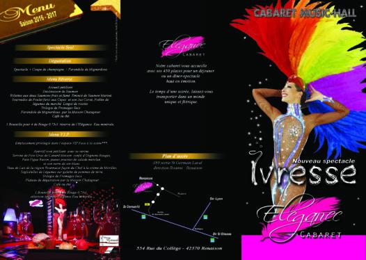 diner-spectacle Loire cabaret Renaison Rhone Alpes Auvergne